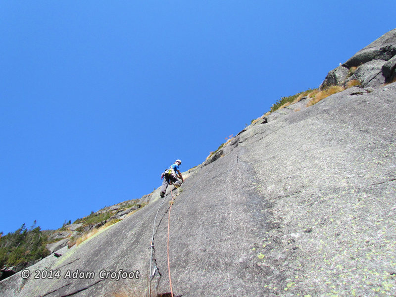 Rock Climbing Photo: Kevin leading P2.