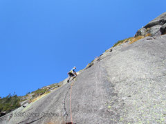 Rock Climbing Photo: Kevin leading P2.