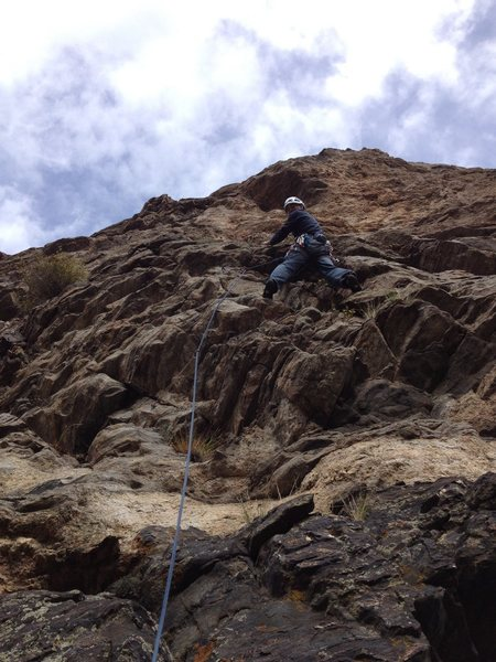 Jay on the first ascent.