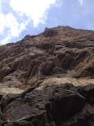 Rock Climbing Photo: Near the little roof.