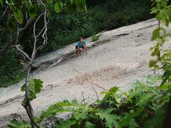 "Rock Climbing Photo: Following P1 of ""Livin' Easy, about 70 feet u..."