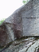 """Rock Climbing Photo: The fixed wire in the """"Building Steam"""" c..."""