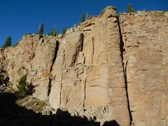 Rock Climbing Photo: Rapere on the left with Carrion Pillar right.