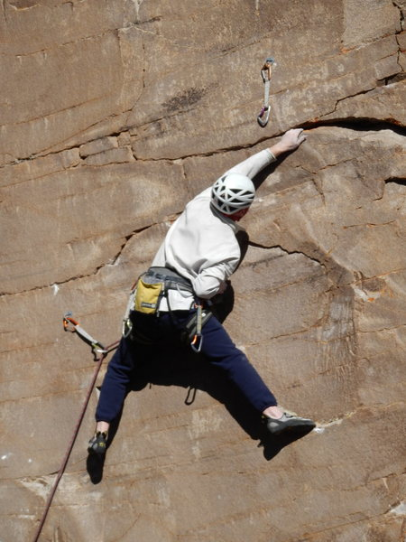 The master on the FA.  This traverse is very intense!