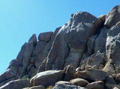 Rock Climbing Photo: Jason leading Around The World, across the frontsi...