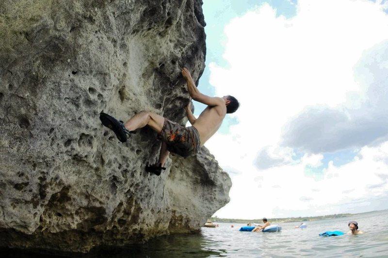 Rock Climbing Photo: fossil area
