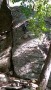Rock Climbing Photo: Li'l T absolutely decimating Noriega's rounded cri...