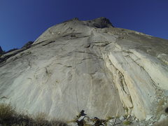 Rock Climbing Photo: Fixed lines on the bottom 3 pitches of Hall of Mir...