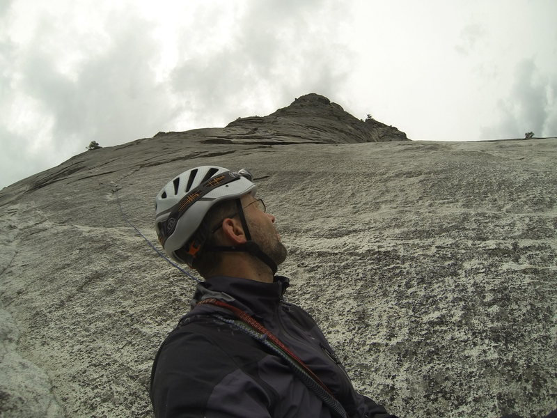Rock Climbing Photo: Toprope soloing, picture taken at the top of pitch...