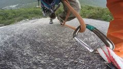 Rock Climbing Photo: Photo from a GoPro on pitch 2