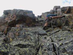 "Rock Climbing Photo: The ""crux""."