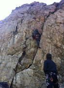 Rock Climbing Photo: Myself on Sockdollager (5.9) in BCC