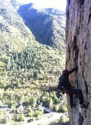 Rock Climbing Photo: Myself on Straight Talk (5.10a) in BCC