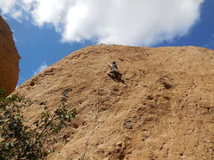 Rock Climbing Photo: Enjoying the sun, the clouds, and some stone, high...