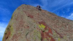 Rock Climbing Photo: Nearing the top of Quadratic Equation.