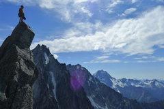 Rock Climbing Photo: Summiting Acid Baby in Cascades
