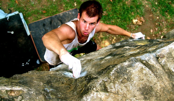 Rock Climbing Photo: Sometimes when you are short you need to find that...