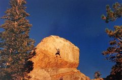 Rock Climbing Photo: Chuck Scott on the FA of Takes a Thief (5.11a R), ...