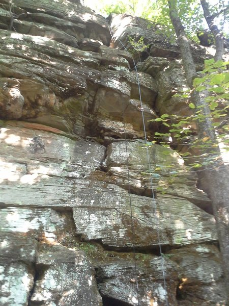 Rock Climbing Photo: This is the center of the main wall. Very easy to ...