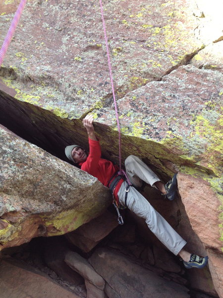 Rock Climbing Photo: Chimney.