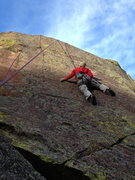 Rock Climbing Photo: Gino @ the crux.