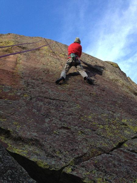 Rock Climbing Photo: Higher....