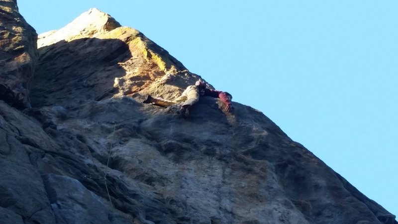 Rock Climbing Photo: Danny missing the jug and getting beached on Free ...