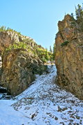 Rock Climbing Photo: The line follows buttress just to the right of the...