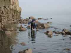 Rock Climbing Photo: This never happens in Colorado...  Wading to escap...