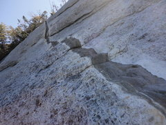 Rock Climbing Photo: Dike on the upper slab