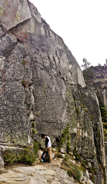 Rock Climbing Photo: The line is the crack near the center of the pic. ...
