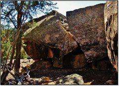 Rock Climbing Photo: Cadywampus problem beta.