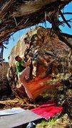 Rock Climbing Photo: Start beta of Air Guided Farmer.