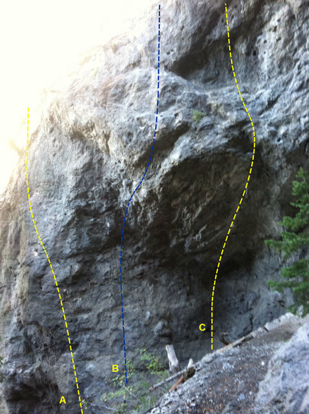 Rock Climbing Photo: A. Little Buddy 10d B. Half CAb 12b C. The Clam 12...