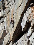 Rock Climbing Photo: Face climbing gold.