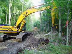 Rock Climbing Photo: Making a road for the loggers (No work was being d...