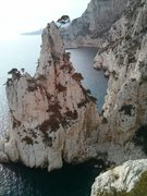 Rock Climbing Photo: a look out at the semi-isle from the 3rd relay of ...