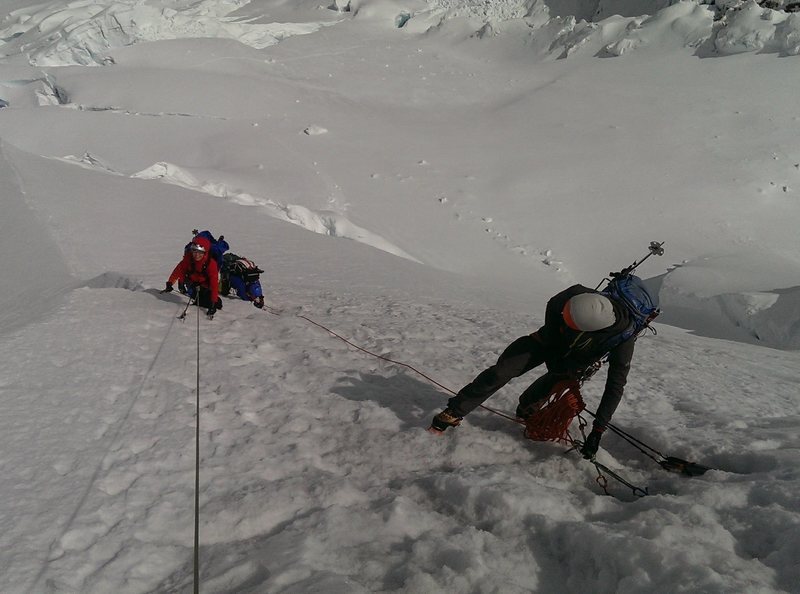 Atop ice section