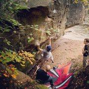 Rock Climbing Photo: Getting into the arête.