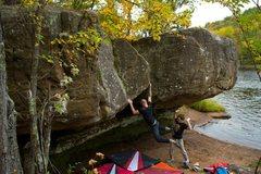 Rock Climbing Photo: Zack Hitz throwing down on the nose.