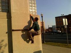Rock Climbing Photo: Beginning move