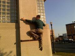 Rock Climbing Photo: second move