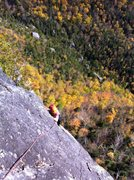 Rock Climbing Photo: Coming up P3. We linked P2 and P3 which made for a...