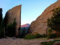 Rock Climbing Photo: The Edge of Time at sunrise.