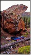 Rock Climbing Photo: Woodnote problem beta.