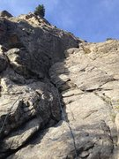 Rock Climbing Photo: The north-facing, vertical wall of Sidekick (where...