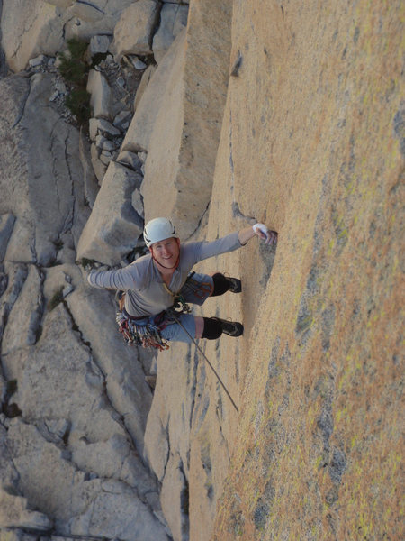 Rock Climbing Photo: Guy on the traverse.