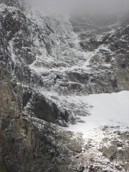 Rock Climbing Photo: E Face of Notchtop.