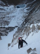 Rock Climbing Photo: Steve ascends firm snow on a Ptarmigan Finger coul...