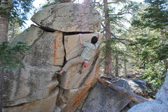 Rock Climbing Photo: Nearing the top of Sunshine Daydream. Thanks for t...